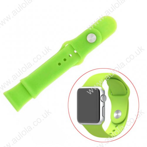 Soft Sillicone Rubber Watchband for Apple iWatch 38mm - Green