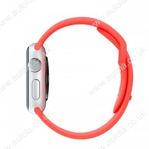 Soft Sillicone Rubber Watchband for Apple iWatch 42mm - Red