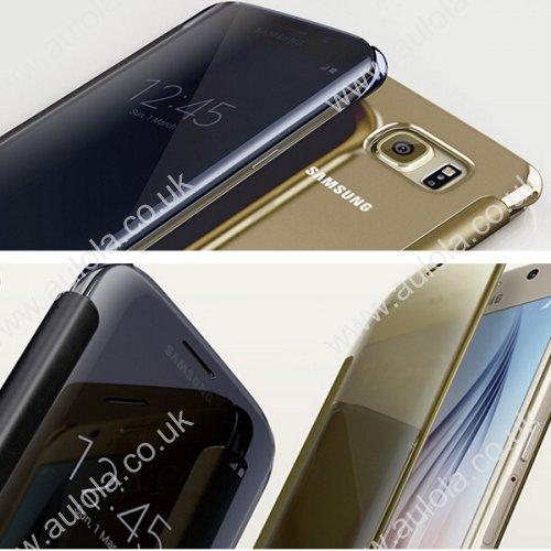 Mirror Flip Smart Case Cover for Samsung Galaxy S6 Edge - Green