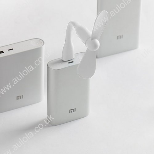 Super Mini XiaoMi Bendable USB Fan for Laptop Computer - White