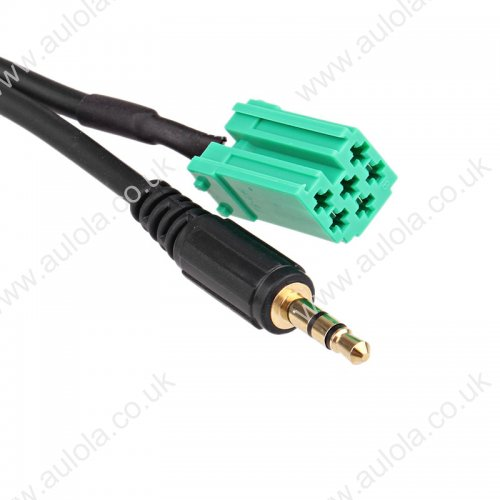 1.5m for iPod iPhone Car Aux In Cable For RENAULT