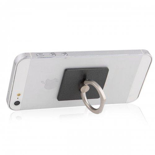 Mini Ring Stent Mount Finger Bracket Holder For iPhone Android Phone - Black