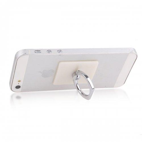 Mini Ring Stent Mount Finger Bracket Holder For iPhone Android Phone - White