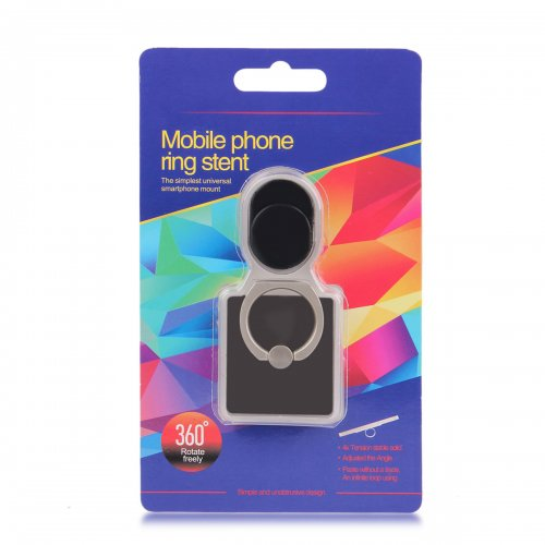 Mini Ring Stent Mount Finger Bracket Holder For iPhone Android Phone - Pink