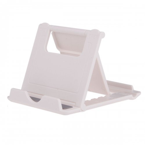 L Shape Universal Phone Tablet Fodable Portable Stand Mount Holder - White