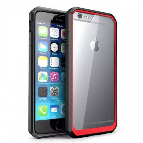 Scratch Resistant TPU PC Transparent Case Bumper Skin for iPhone 6 4.7 - Red