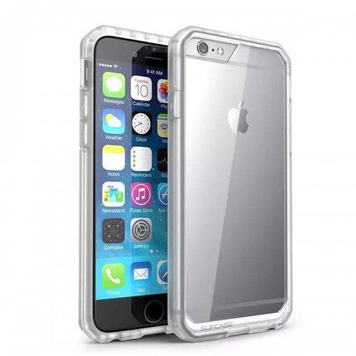 Scratch Resistant TPU PC Transparent Case Bumper Skin for iPhone 6 4.7 - White
