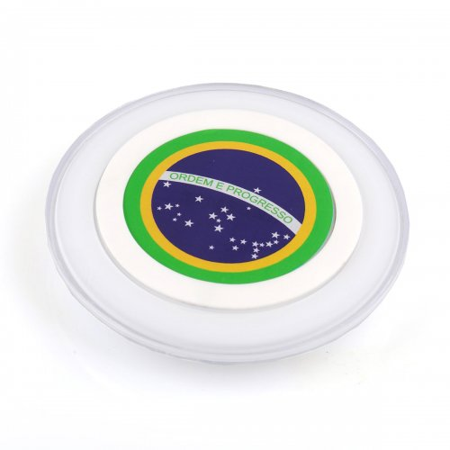 Brazil Flag Qi Wireless Charging Charger Dock Pad Plate Transmitter for Samsung iPhone