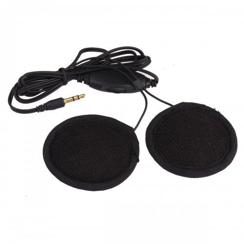 3.5mm Motorcycle Helmet Speaker Headphones with Volume Control + Cable WK