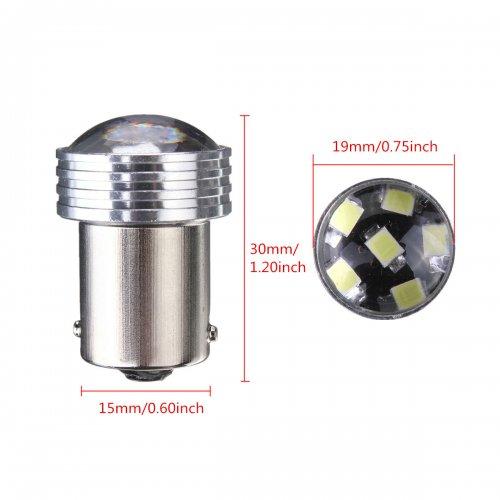 2x 1156  9 LED 2835 COB SMD Car Reverse Turn Tail Light Bulb White 12V