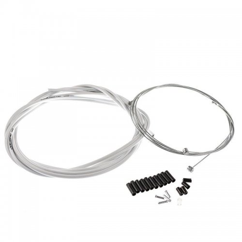 Jagwire Bike Bicycle Complete Front & Rear Inner Outer Gear Brake Wire Cable Kit - White