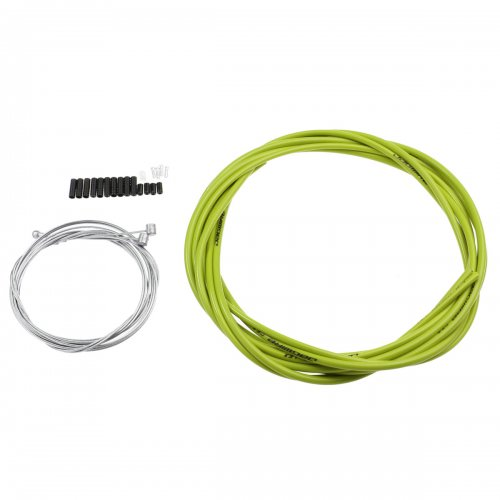 Jagwire Bike Bicycle Complete Front & Rear Inner Outer Gear Brake Wire Cable Kit - Green