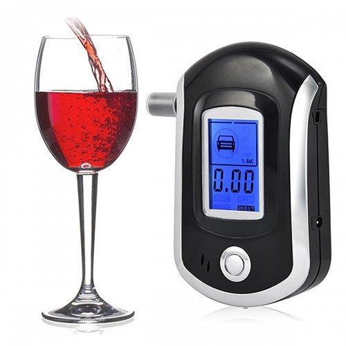 AT6000 Digital LCD Breath Alcohol Detector Tester Analyzer Breathalyzer Test
