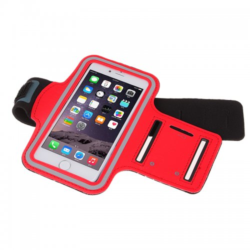 Adjustable Armband Armlet Velcro Strap for iPhone 6 Plus 5.5 - Red