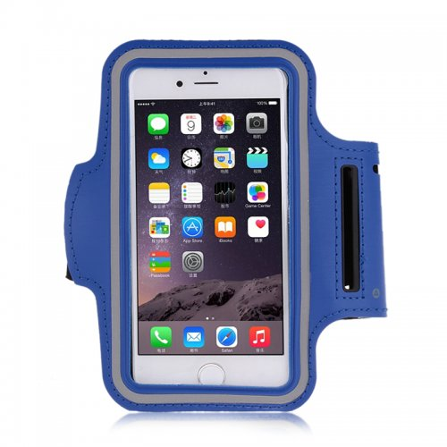 Adjustable Armband Armlet Velcro Strap for iPhone 6 Plus 5.5 - Blue