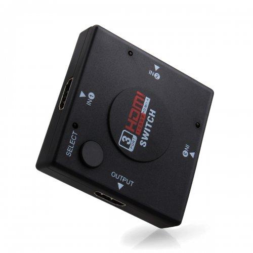 2-Port HDMI Switcher Video Audio Switch