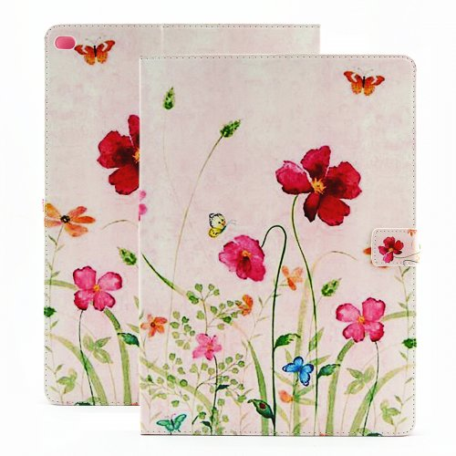 Flower Blossom Magnetic Flip Stand Leather Case Cover Shell for iPad Pro - Spring