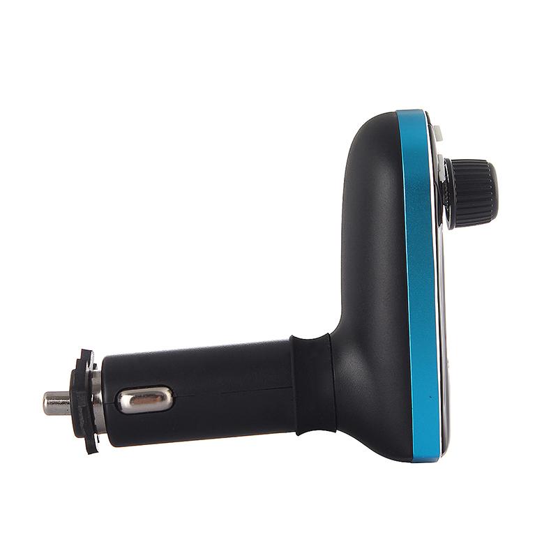 Car Kit MP3 Player Wireless  FM Transmitter Modulator USB LCD Remote - Blue