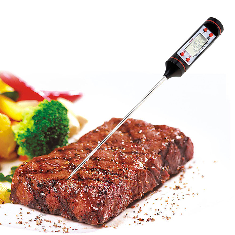 Black Food Probe Cooking Kitchen BBQ Electronic Digital Thermometer Instant Temperature