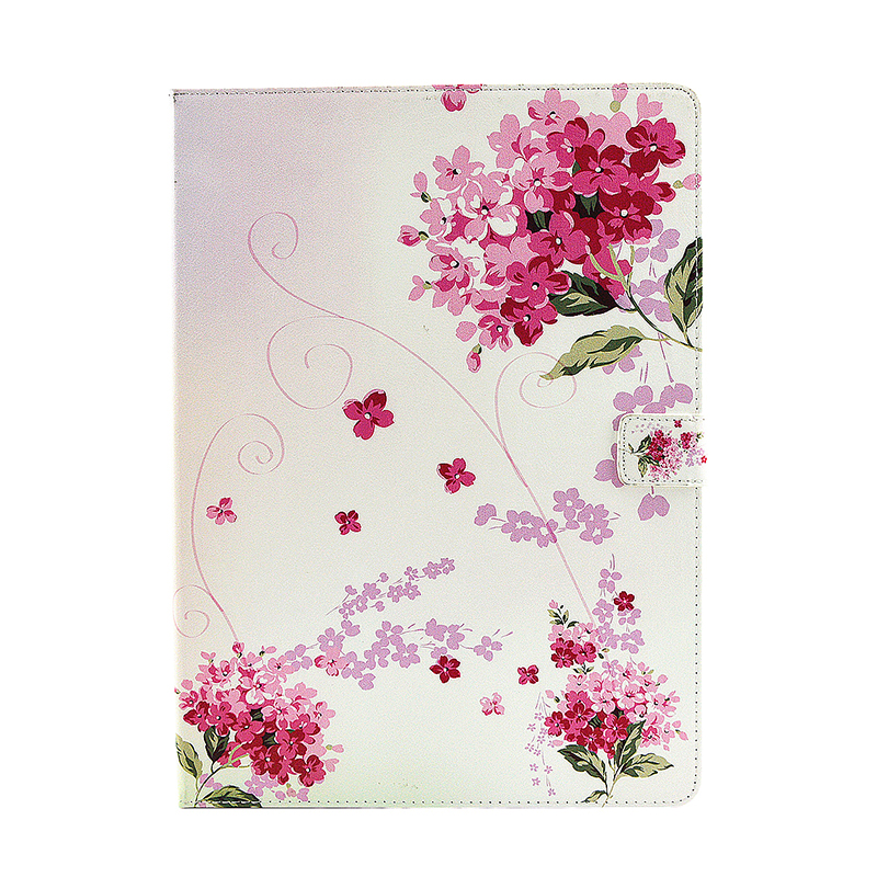 Flower Blossom Magnetic Flip Stand Leather Case Cover Shell for iPad Pro - Baby's Breath