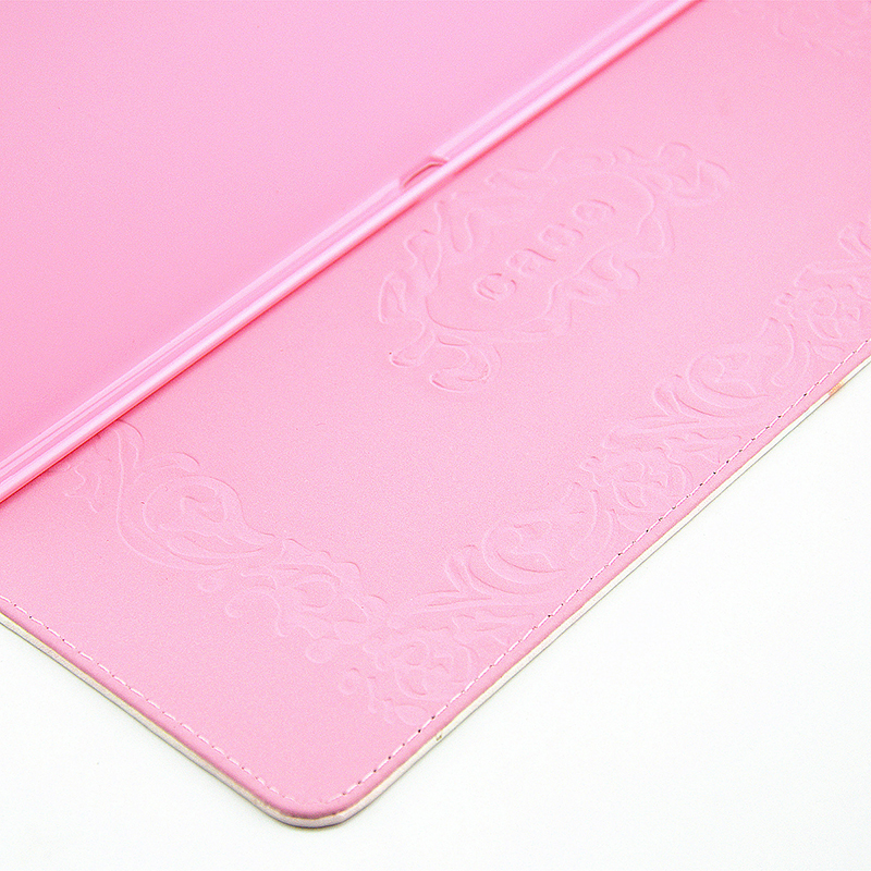 Flower Blossom Magnetic Flip Stand Leather Case Cover Shell for iPad Pro - Rose