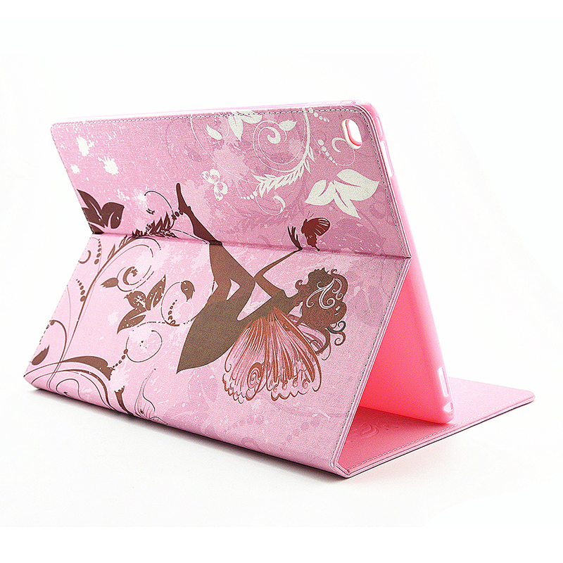 Flower Blossom Magnetic Flip Stand Leather Case Cover Shell for iPad Pro - Butterfly Fairy