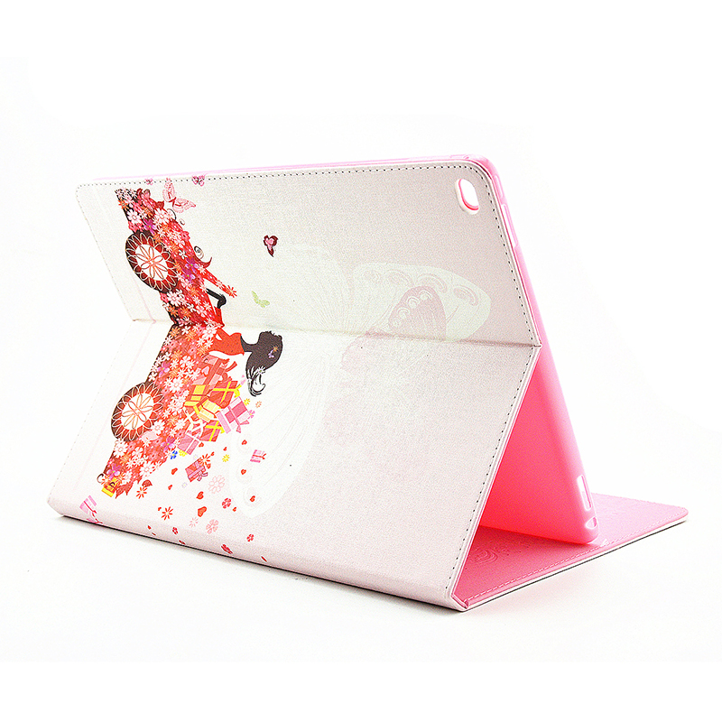 Flower Blossom Magnetic Flip Stand Leather Case Cover Shell for iPad Pro - Flower Fairy