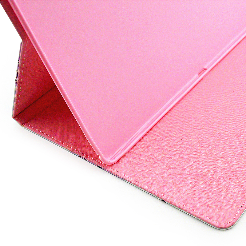 Colorful Magnetic Flip Stand Leather Case Cover Shell for iPad Pro - Heart Shape