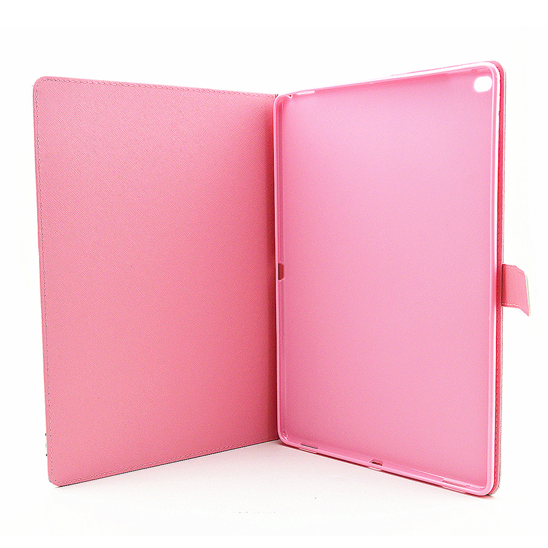 Colorful Magnetic Flip Stand Leather Case Cover Shell for iPad Pro - Petal