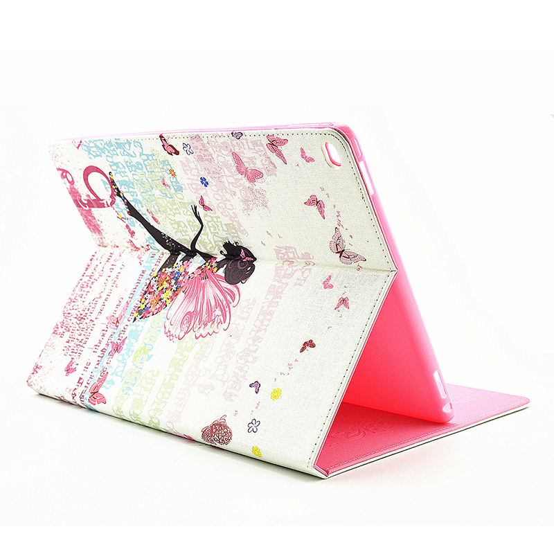 Bling Crystal Magnetic Flip Stand Leather Case Cover Shell for iPad Pro - Fairy