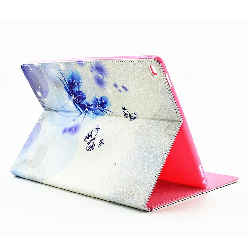Bling Crystal Magnetic Flip Stand Leather Case Cover Shell for iPad Pro - Fancy Blue