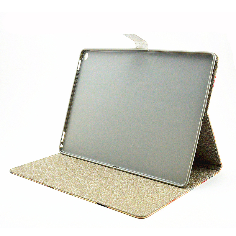 Vintage Style Magnetic Flip Stand Leather Case Cover Shell for iPad Pro - Castle