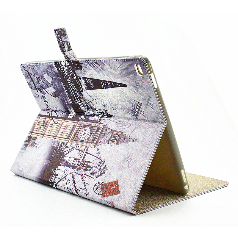 Vintage Style Magnetic Flip Stand Leather Case Cover Shell for iPad Pro - London