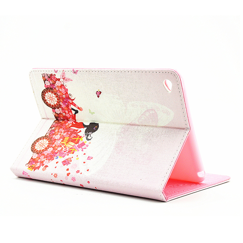 Bling Magnetic Flip Stand Leather Case Cover Shell for iPad  Mini 4 - Flower Fairy