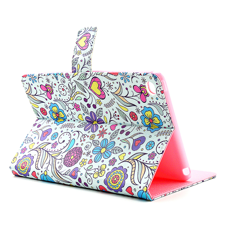 Colorful Magnetic Flip Stand Leather Case Cover Shell for iPad  Mini 4 - Blossom