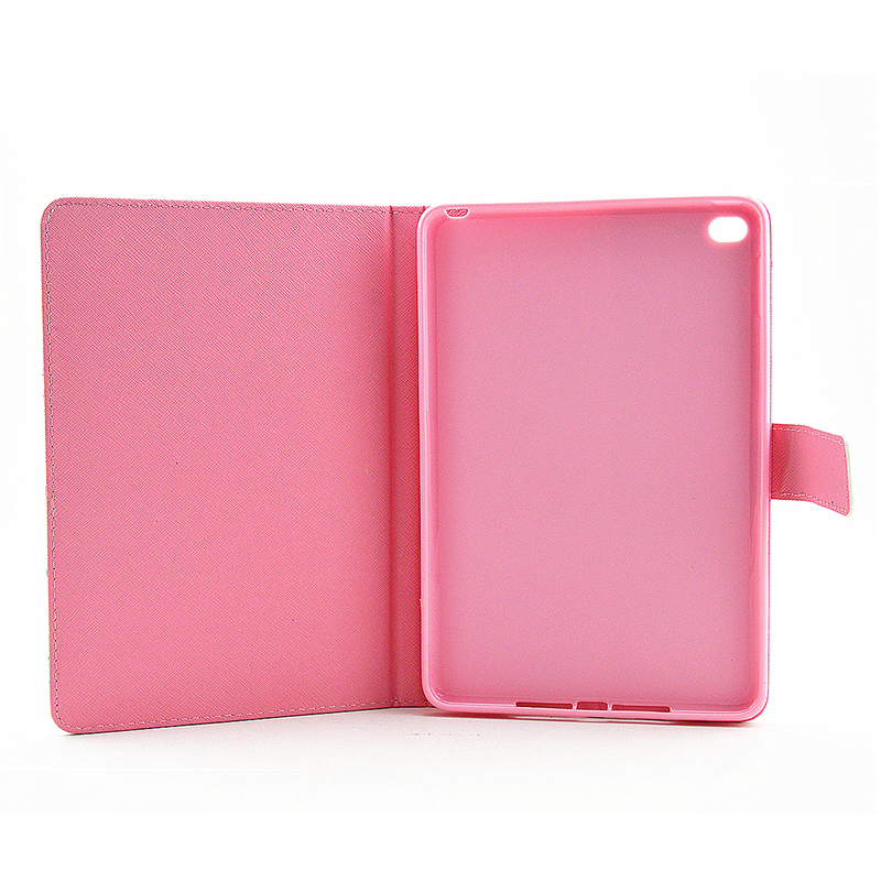 Colorful Magnetic Flip Stand Leather Case Cover Shell for iPad  Mini 4 - Purple Butterfly