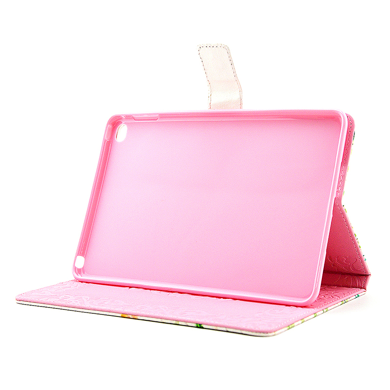 Flower Blossom Magnetic Flip Stand Leather Case Cover Shell for iPad Mini 4 - Baby's Breath