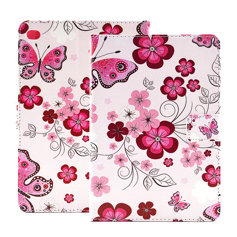 Flower Blossom Magnetic Flip Stand Leather Case Cover Shell for iPad Mini 4 - Butterfly