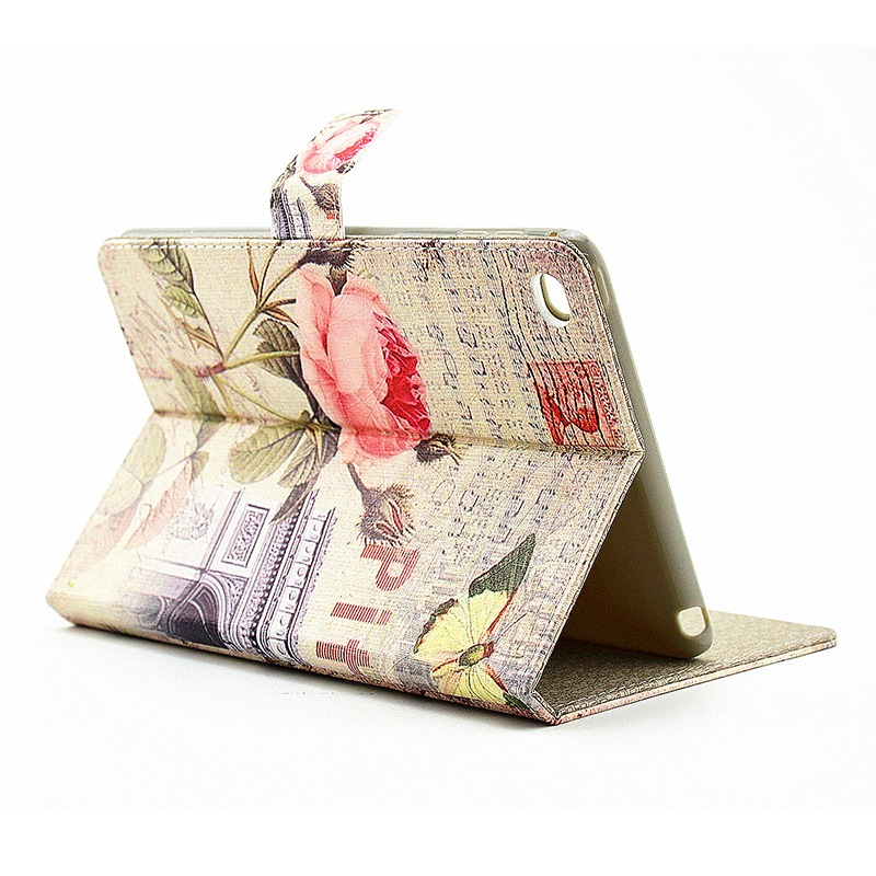 Vintage Style Magnetic Flip Stand Leather Case Cover Shell for iPad Mini 4 - Bud