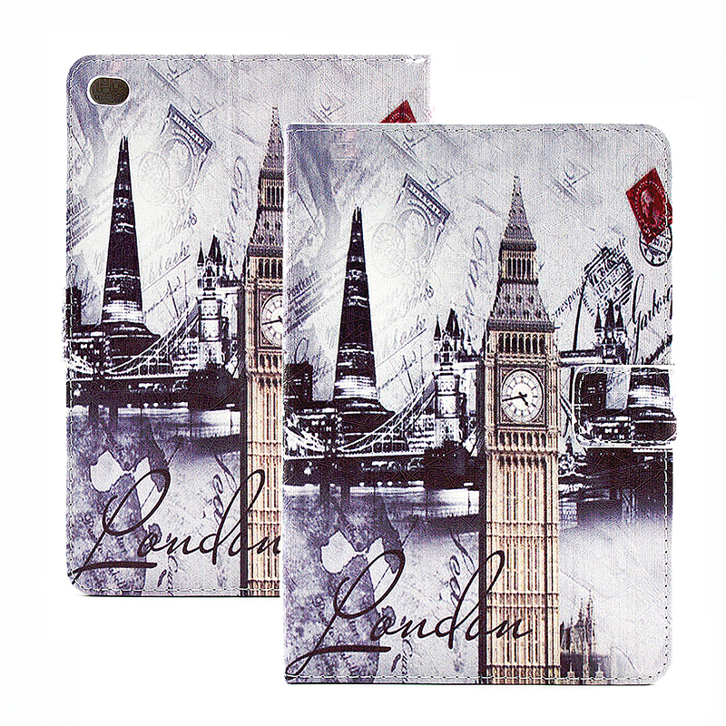 Vintage Style Magnetic Flip Stand Leather Case Cover Shell for iPad Mini 4 - London