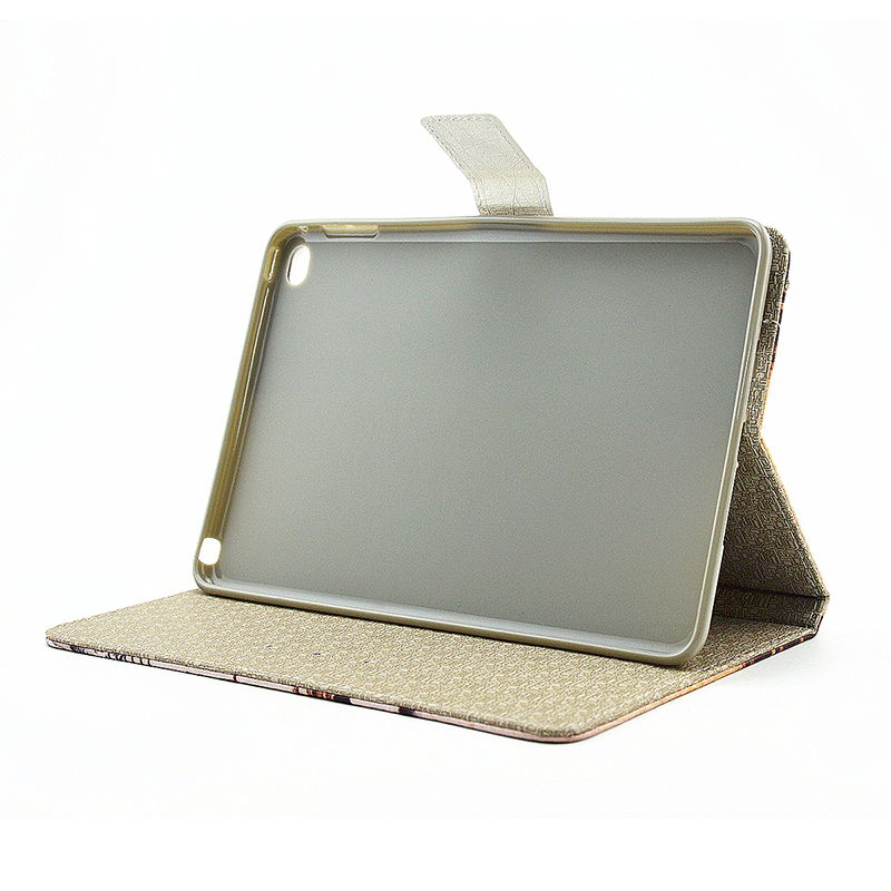 Vintage Style Magnetic Flip Stand Leather Case Cover Shell for iPad Mini 4 - Leaning Tower