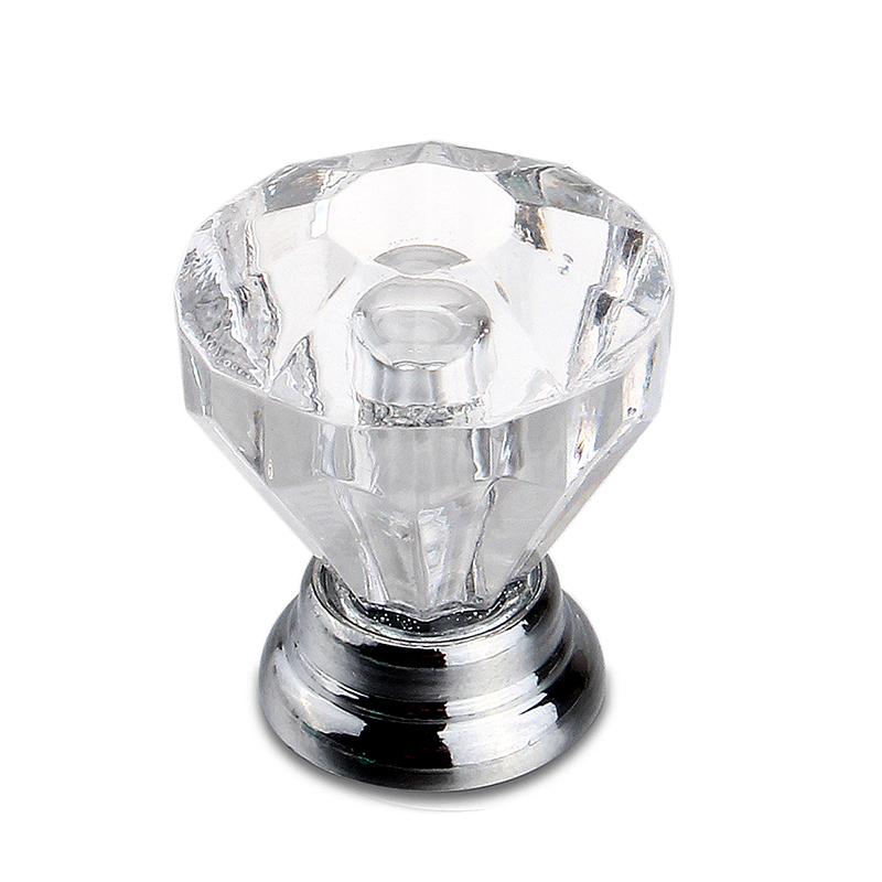 Small Crystal Cut Glass Drawer & Cupboard Pulls Passage Door Knobs