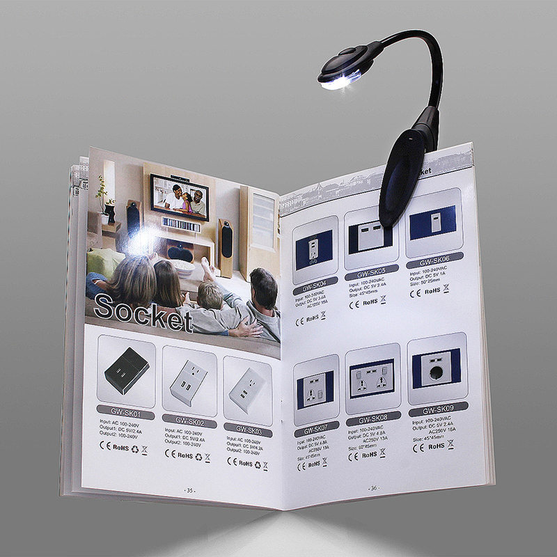 Mini Clip LED Light Flex Bendable Adjustable Bright Book Reading Lamp with Battery
