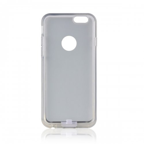 Phone Back Case Charger Qi Wireless Charging Receiver Cover for iPhone 6S Plus - White