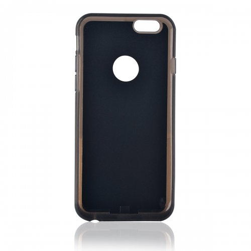 Phone Back Case Charger Qi Wireless Charging Receiver Cover for iPhone 6S Plus - Black