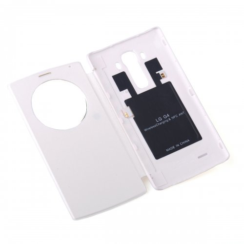 Quick Battery Cover Case Qi Wireless Charging Receiver with NFC For LG G4 - White