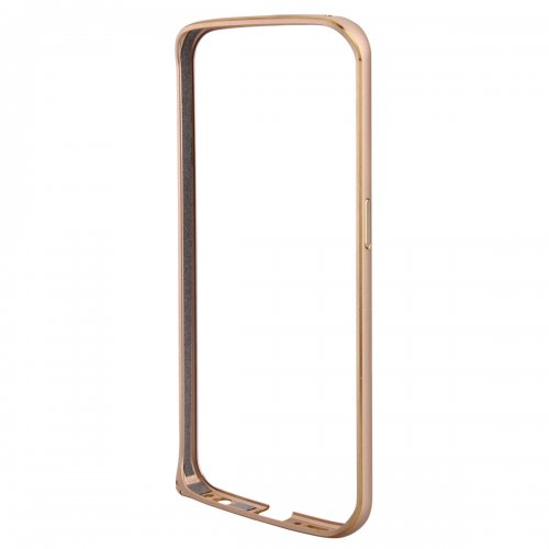 Metal Aluminum Alloy Ultra Thin Border Frame Bumper Case for Samsung Galaxy S6 Edge - Gold