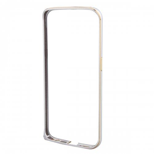 Metal Aluminum Alloy Ultra Thin Border Frame Bumper Case for Samsung Galaxy S6 Edge - Silver