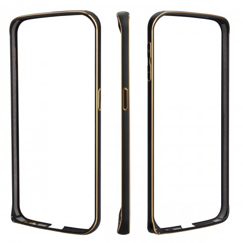 Metal Aluminum Alloy Ultra Thin Border Frame Bumper Case for Samsung Galaxy S6 - Black