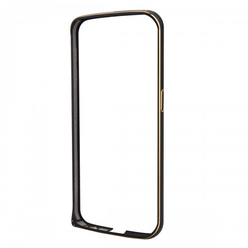 Metal Aluminum Alloy Ultra Thin Border Frame Bumper Case for Samsung Galaxy S6 - Black